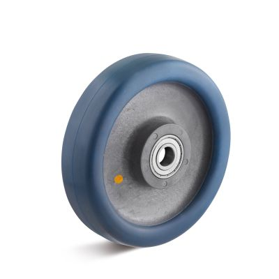 Hard Wrap Around Conductive Polyurethane Tyre with Nylon Centre, Wheel, Ball Bearing