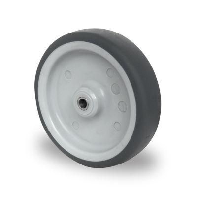 Grey TPR Tyre with Polypropylene Centre, Wheel, Plain Bore