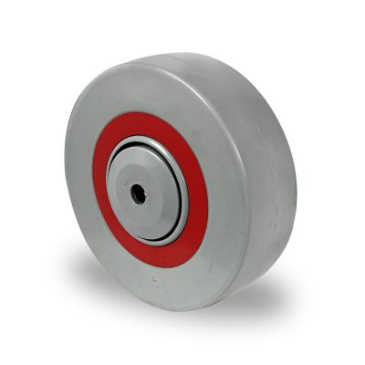 Nylon Centre Sandwich Wheel with Rubber Damping Centre, Wheel, Roller Bearing
