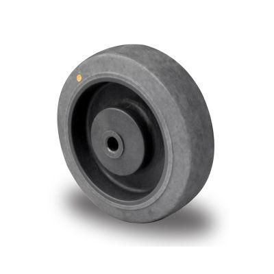 Soft Grey TPR Anti-Static Tyre, Grey Plastic Centre, Ball Bearing