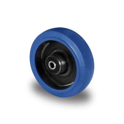 Blue Elastic Tyre with Black Nylon Centre, Wheel