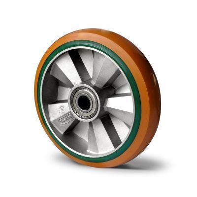Special Hybrid Wheel, Soft Polyurethane Core with Harder Polyurethane Tyre, Ball Bearing