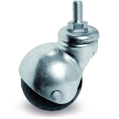 Rubber Ball, Wheel, Bolt Hole Castor with Threaded Stem