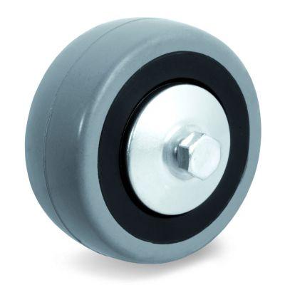 Grey Rubber Small Wheel, Wheel, Plain Bore