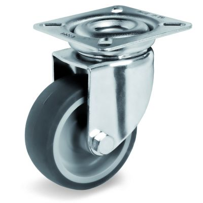 Non-Marking TPR Tyre with Polypropylene Centre, Swivel Top Plate Castor