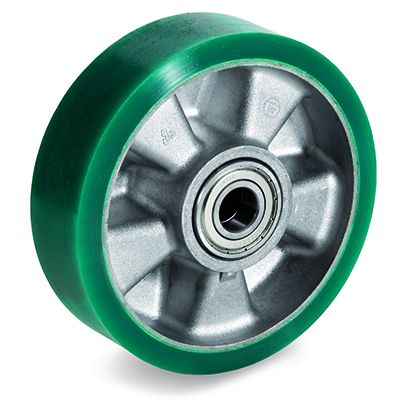 TR Roll Elastic Polyurethane with Thin Tyre and Aluminium Centre, Wheel, Ball Bearing