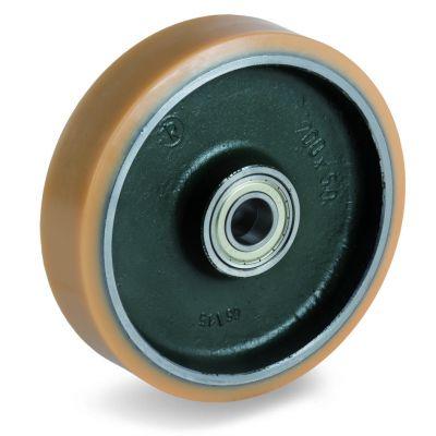 Vulkollan Tyre with Forged Steel Centre, Wheel, Ball Bearing