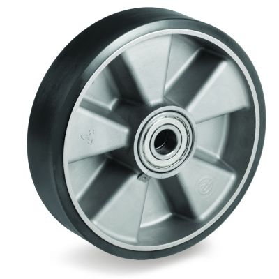 TR Polyurethane Tyre with Electrical Resistance and Aluminium Centre, Wheel, Ball Bearing