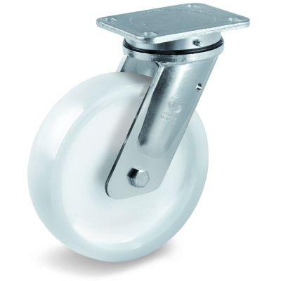 Polyamide 6 Solid Heavy Duty Wheel, Electro Welded Swivel Top Plate Castor, EE MHD Duty