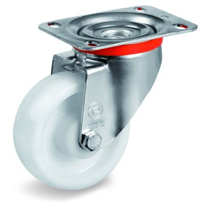 Polyamide 6 Solid Heavy Duty Wheel, Swivel Top Plate Castor, NL Duty