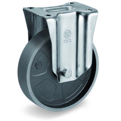 Cast Iron Wheel, Fixed Top Plate Castor, NL Duty