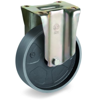Cast Iron Wheel, Fixed Top Plate Castor, P Duty