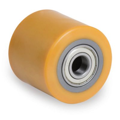 TR Polyurethane Pallet Truck Roller with Steel Centre, Ball Bearing