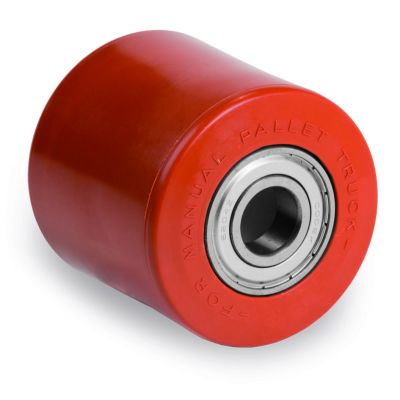 Injection Polyurethane Roller Bonded to Nylon Centre, Ball Bearing