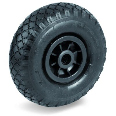 Pneumatic Tyre with Plastic Centre, Cross Country Tyre, Plain Bore