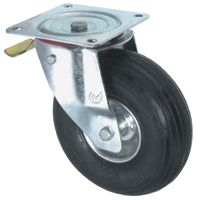 Pneumatic Tyre with Steel Centre, Swivel Top Plate Castor with Brake