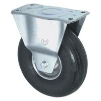 Pneumatic Tyre with Steel Centre, Fixed Top Plate Castor