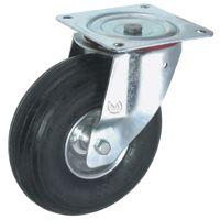 Pneumatic Tyre with Steel Centre, Swivel Top Plate Castor