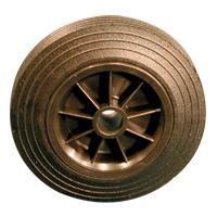 Solid Rubber Tyre with Plastic Centre, Plain Bore
