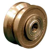 Grooved Cast Iron Wheel, Ball Bearing