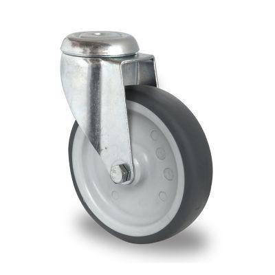 Grey TPR Tyre with Polypropylene Centre, Bolt Hole Castor