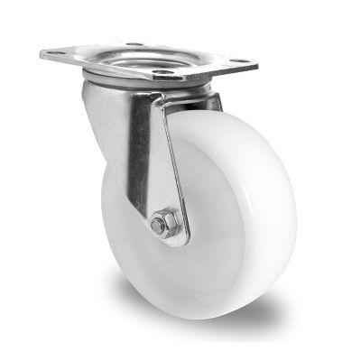 White Nylon Wheel, Swivel Top Plate Castor